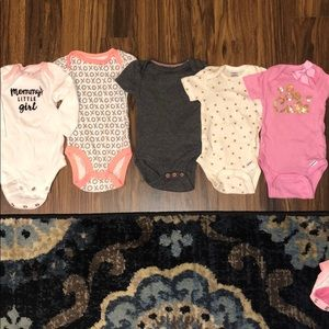 5 onesies 0-3 mo Great Cond.